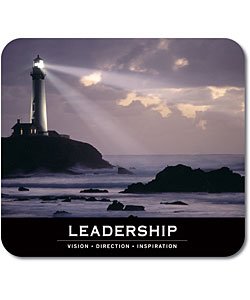 Motivational Leadership Fabric and Rubber Nonslip Graphic Mouse Pad