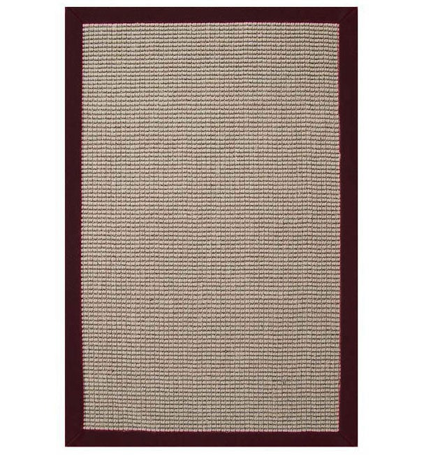 Hand Woven Sisal Cherry Brown Border Rug 8 X 10