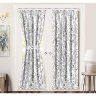 Porch & Den Pagosa Tree Branch Rod Pocket Room Darkening Door Curtain Panel