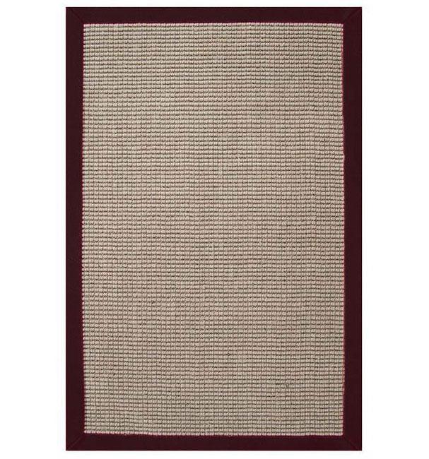Hand-woven Sisal Cherry Brown Border Rug (5' x 8')