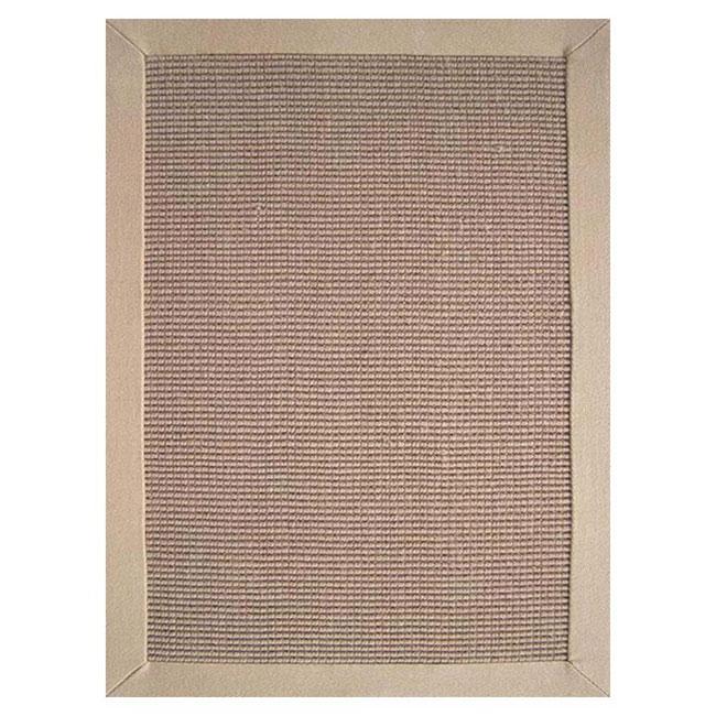 Hand-woven Sisal Beige Border Rug (8' x 10')
