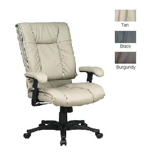 Office Star High Back Executive Top Grain Leather Chair