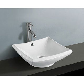 Courtyard White China Vessel Sink