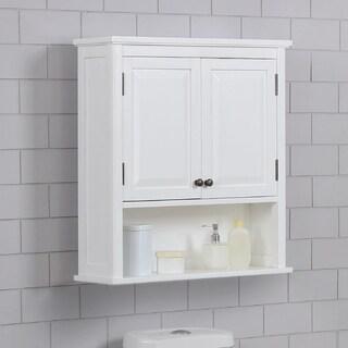 Porch & Den Everest 27 x 29 Bath Storage Cabinet with 2 Doors and Open Shelf