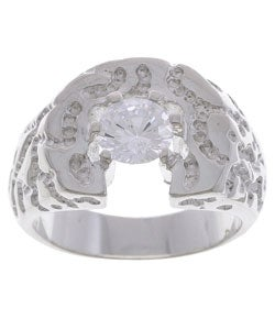 Simon Frank Men's Solita Diamond Simulant CZ Ring