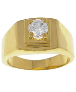 Simon Frank 14k Gold Overlay Men's Diamond Simulant CZ Ring