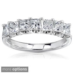 Annello 14k White 1ct TDW Princess-cut Diamond Band (H-I, I1-I2)