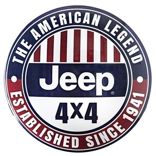American Art Decor Licensed Jeep 4 X 4 Hanging Metal Sign Wall Decor
