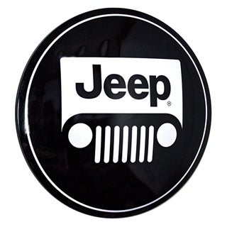 American Art Decor Licensed Jeep Logo Hanging Metal Sign Wall Decor