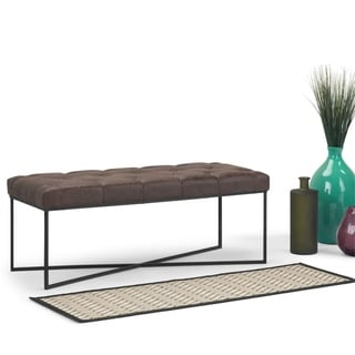 WYNDENHALL Moreland 48 inch Wide Contemporary Modern Rectangle Ottoman Bench, Fully Assembled