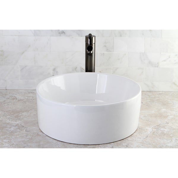 Park Vessel White China Sink - 10815402 - Overstock.com Shopping ...