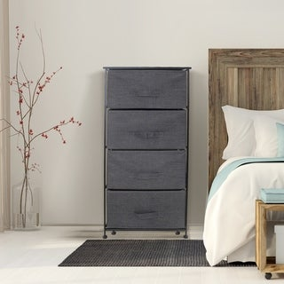 4 Drawers Chest Dresser - Black