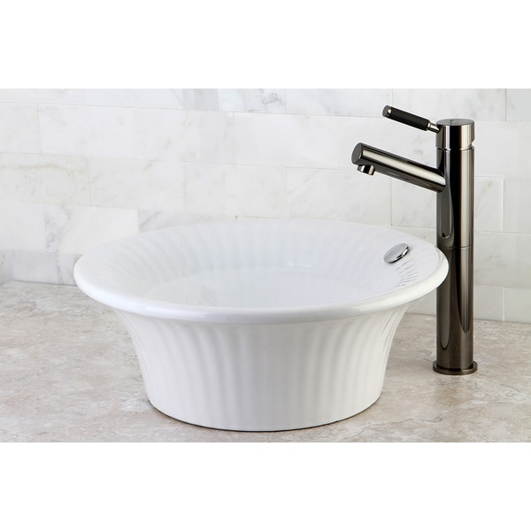 Laurel White China Vessel Sink