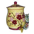 Floral Garden Hand-painted Water Jar