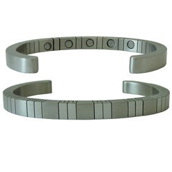 Designer Cut Magnetic Stainless Steel Cuff