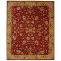 Handmade Hereditary Burgundy/ Gold Wool Rug (9'6 x 13'6)