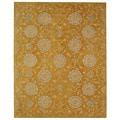 Handmade Medallions Gold Wool Rug (9'6 x 13'6)