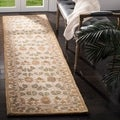Handmade Ancestral Tree Ivory/ Green Wool Runner (2'3 x 8')