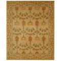 Safavieh Handmade Ancestral Tree Ivory/ Green Wool Rug (9' x 12')