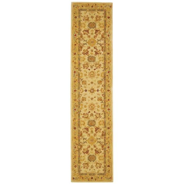 Safavieh Handmade Heirloom Ivory/ Gold Wool Runner (2'3 x 10')