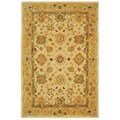Safavieh Handmade Heirloom Ivory/ Gold Wool Rug (4' x 6')