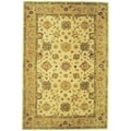 Handmade Heirloom Ivory/ Gold Wool Rug (6&#39; x 9&#39;)