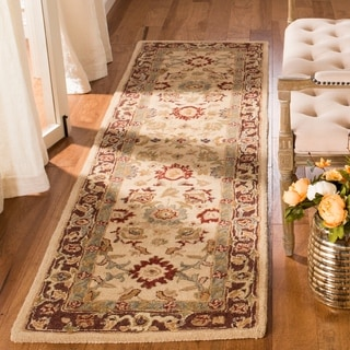Handmade Heirloom Ivory/ Gold Wool Rug (8' x 10')