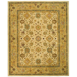Handmade Heirloom Ivory/ Gold Wool Rug (9' x 12')