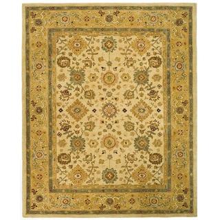 Safavieh Handmade Heirloom Ivory/ Gold Wool Rug (9' x 12')