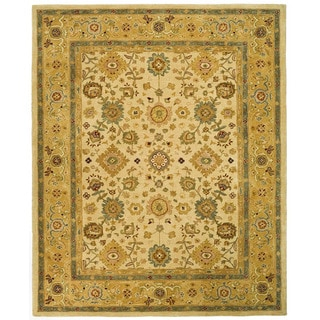 Handmade Heirloom Ivory/ Gold Wool Rug (9' x 12')