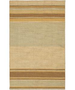 Hand-knotted Ansal Light Grey Wool Rug (4' x 6')