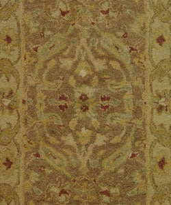 Handmade Antiquities Treasure Brown/ Gold Wool Rug (2' x 3')