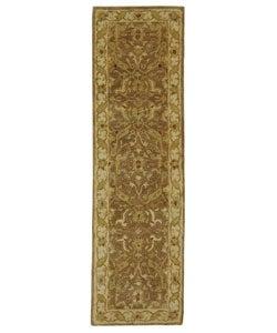 Safavieh Handmade Antiquities Treasure Brown/ Gold Wool Runner (2'3 x 12')