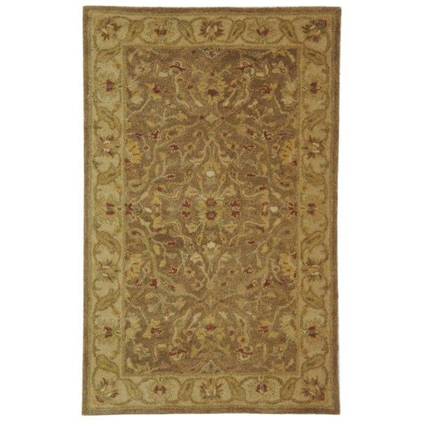 Safavieh Handmade Antiquities Treasure Brown/ Gold Wool Rug (3' x 5')