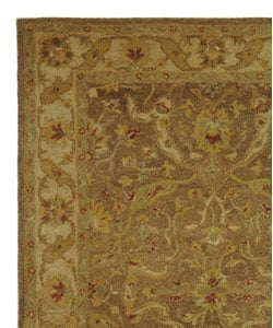 Handmade Antiquities Treasure Brown/ Gold Wool Rug (4' x 6')
