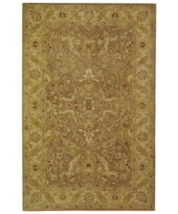 Safavieh Handmade Antiquities Treasure Brown/ Gold Wool Rug (5' x 8')