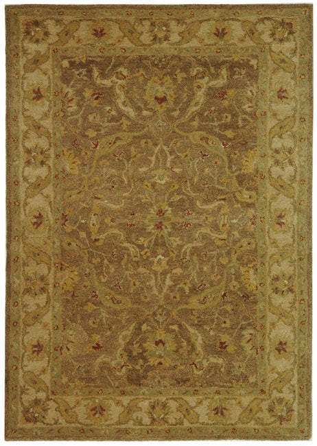Safavieh Handmade Antiquities Treasure Brown/ Gold Wool Rug (6' x 9')