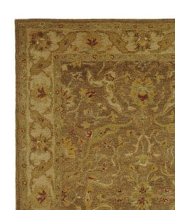 Handmade Antiquities Treasure Brown/ Gold Wool Rug (6' x 9')