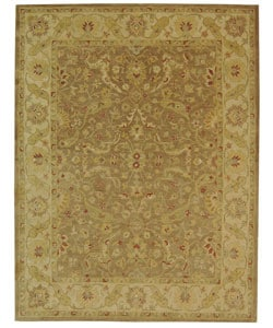 Handmade Antiquities Treasure Brown/ Gold Wool Rug (7'6 x 9'6)
