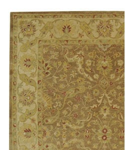 Handmade Antiquities Treasure Brown/ Gold Wool Rug (8'3 x 11')