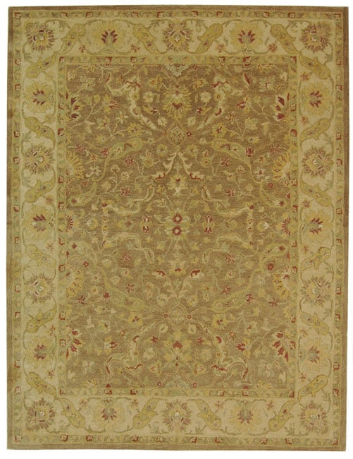 Safavieh Handmade Antiquities Treasure Brown/ Gold Wool Rug (9'6 x 13'6)