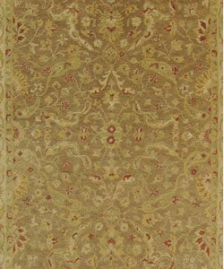 Handmade Antiquities Treasure Brown/ Gold Wool Rug (9'6 x 13'6)