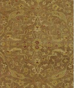 Safavieh Handmade Treasure Brown/ Gold Wool Rug (7'6 x 9'6 Oval)