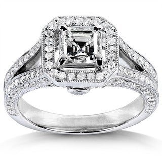 Annello 14k White Gold 1 1/3ct TDW Diamond Engagement Ring (H-I, SI1)