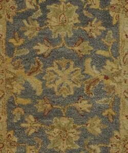Safavieh Handmade Antiquities Jewel Grey Blue/ Beige Wool Runner (2'3 x 4')