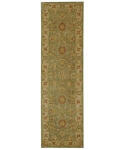 Safavieh Handmade Antiquities Gem Green Wool Runner (2'3 x 12')