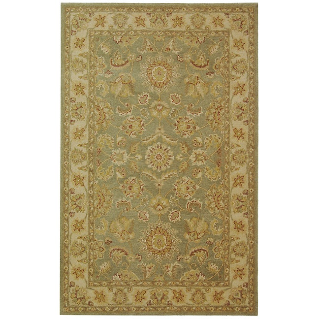 Safavieh Handmade Antiquities Gem Green Wool Rug (5' x 8')
