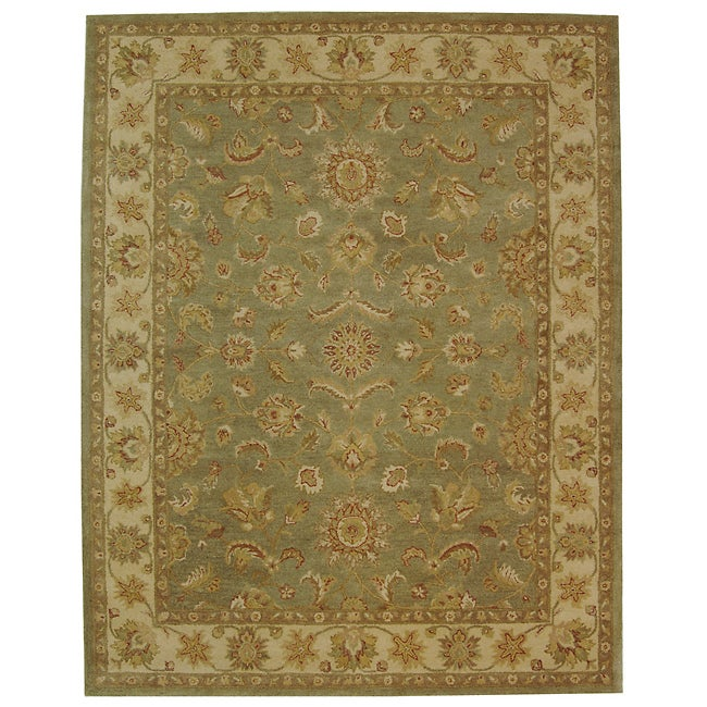 Safavieh Handmade Antiquities Gem Green Wool Rug (7'6 x 9'6)