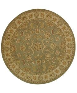 Handmade Antiquities Gem Green Wool Rug (8' Round)