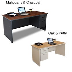 Marvel 60-inch Single Pedestal Steel Desk